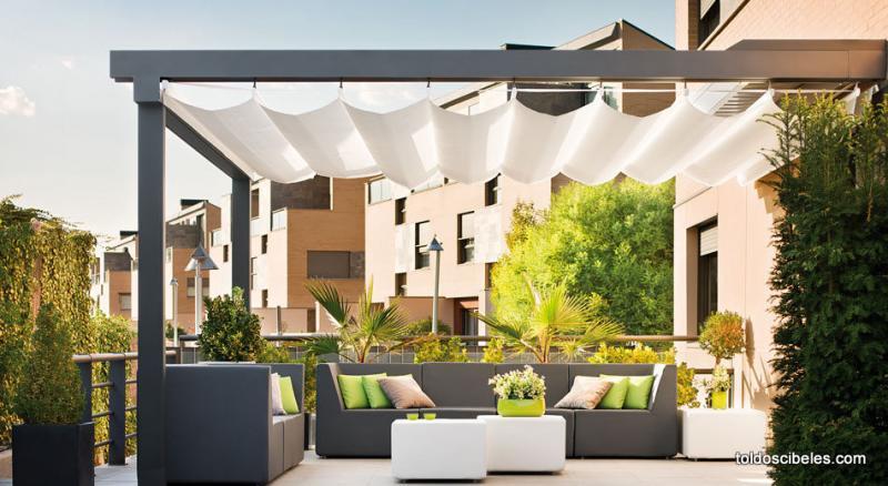 P rgolas para terrazas - Telas para toldos de terraza ...
